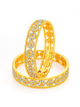 Sukkhi Fancy Gold Plated AD Bangle For Women (3221...