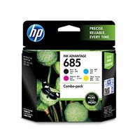 HP 685 CMYK (Cyan, Magenta, Yellow, Black) Ink Cartridges Combo Pack