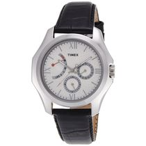 Timex E Class Analog White Dial Men's Watch   TI000Q20200