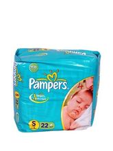 Pampers Small Upto 8 Kg Disposable Diapers 22 Pads...