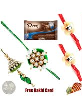 Eindia Store Dove Milk Chocolate Rakhi Special (15...