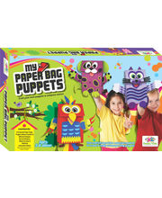 Art & Craft Toys- My Paper Bag Puppets, Art & Craft Kit Toys For Kids, Craft Kit, Multicolour