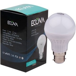 Ecova 5W LED Bulb (White, Pack of 2)