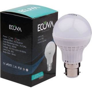 Ecova 7W LED Bulb (White, Pack of 3)