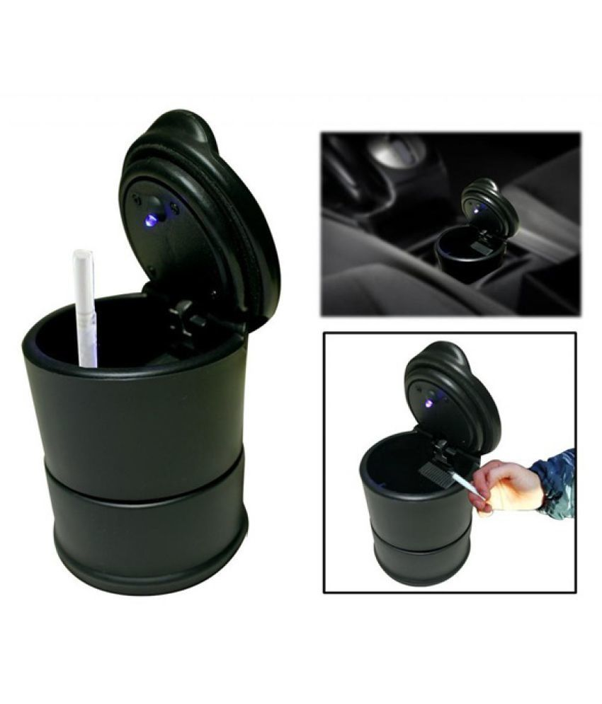SAB ENTICE Car Ashtray with LED Light Black For Hyundai Santro Xing