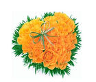 BAF 50 Yellow Roses Elegant Heart Gift, free shipping