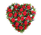 BAF 50 Red Roses Heart Shape Basket Gift, free shipping