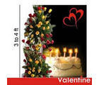 BAF My Life size Bouquet with Cake Gift, midnight delivery