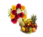 BAF Roses with Fresh Fruits-VL Gift, free shipping