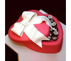 BAF Love Box Shaped Red Valentine Cake Gift, free shipping