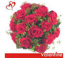 BAF 12 Red Roses Bunch Gift, free shipping
