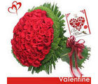 BAF 100 Red Roses Bunch Gift, midnight delivery