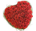 BAF 150 Red Roses Heart Shape Basket Gift, midnight delivery