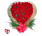 BAF 200 Roses Heart Shape with Love Gift, midnight delivery