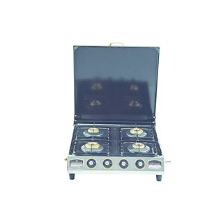 CT-200 4 Burner SS Gas Cooktop (With Cover)