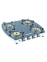 Sunshine Alfa Oval SS Four Burner Toughened Glass ...