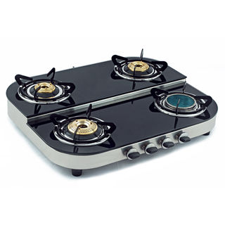 Ceramic 4 Burner Step Gas Cooktop