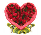 Primo Gifts Red Roses in Heart
