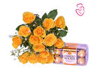Yellow Roses with Ferrero Rocher