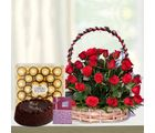 Primo Gifts Red Basket Hamper