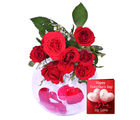 Primo Gifts Rose Beautiful Glass Vase Gift