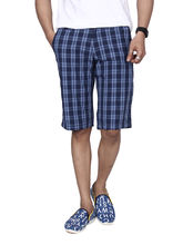 Hammock Checkered Mens Burmuda Shorts, 30, blue