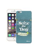 Customizable Hamee Original Designer Cover Thin Fit Crystal Clear Plastic Hard Back Case for Apple iPhone 5 / 5s (Seize The Day), multicolor