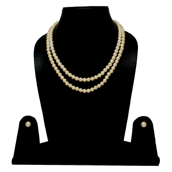 Double Layer Pearl Mala With Tops For Women