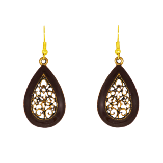 Water Drop Shape Brown Dangler Earring For Women