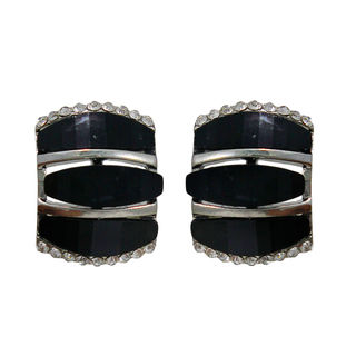 Pair Of Embellished Black Studs For Women