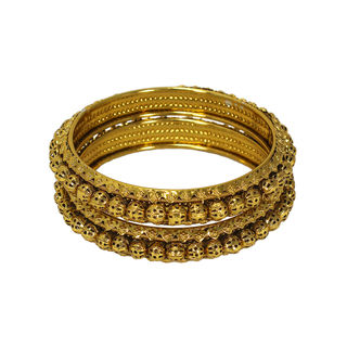 Stunning Gold Tone Bangles In Pack Of 2 For Women, 2-10