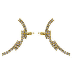 Golden And Silver Ear Cuff For Women