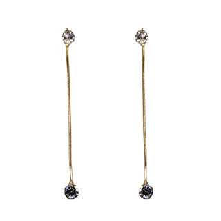 Golden Dangling Chain Earring For Women