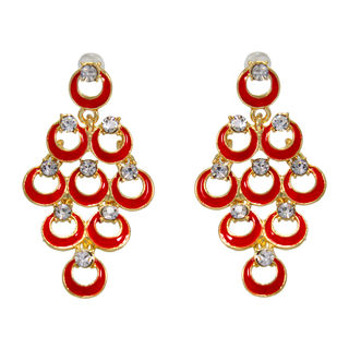 Designer Red Fashion Danglers For Women