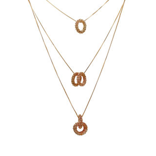 Classy Golden Three Chain Pendant For Women