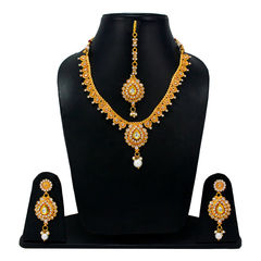 Beautiful Gold Tone Temple Design Necklace For Women