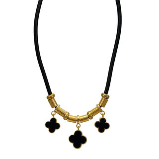 Black And Golden Pendant For Women