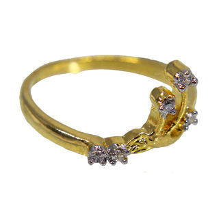 Beautiful Gold Tone Ring Design, 11