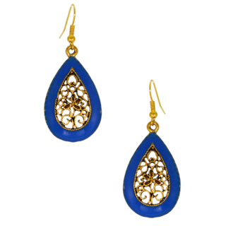 Everyday Blue Metallic Dangler For Women