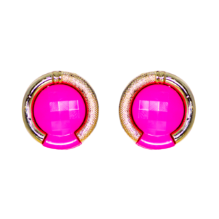 Golden Base Pink Fashion Studs For Women