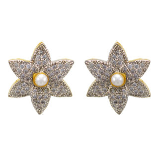Adorable Floral Pair Of Stud Earrings