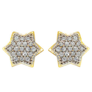 Star Shape American Diamond Stud Earrings