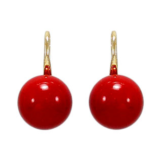 Dangling Tops Adorned With Red Pearl