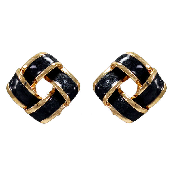 Black And Golden Square Tops For Women