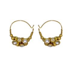 Golden Baali Studded With CZ Stones For Women