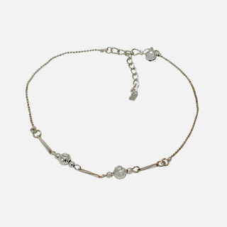 Silver Polished Casual Wear Anklet For Women