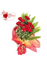 Flora Online Valentine - 10 Red Roses Bunch