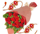 Flora Online Red Roses With Rakhi Rakhi With Flowers