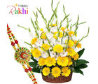 Flora Online Everlasting Dream Rakhi With Flowers