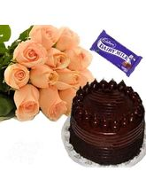 Flora Online Roses With Cake